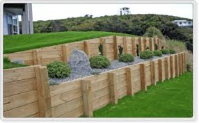 Small Picture Timber retaining wall Retaining Wall Pinterest Retaining