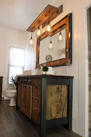 industrial lighting bathroom. Fine Industrial Rustic Industrial Light  Steel And Barn Wood Vanity Light Rustic Light  Cage Shade WBulbs L1303 Inside Lighting Bathroom