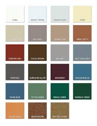 Mueller Metal Buildings Color Chart Color Palette For Steel Building Materials From Pws
