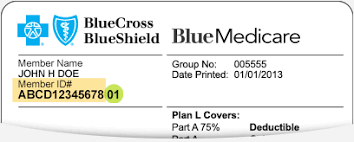 Group Insurance Cross Shield - Blue Card Number On