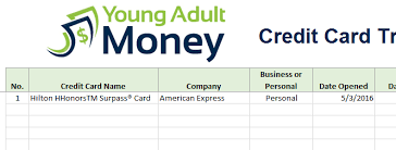 Credit Card Tracker Excel Credit Card Rewards Tracking Spreadsheet In Excel Young