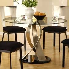 modern round glass dining table tables unique room small on designs