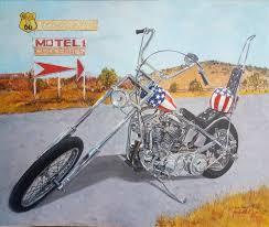 canvas harley davidson chopper easy