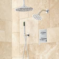 dual shower head shower. Trimble Dual Shower Head System With Hand