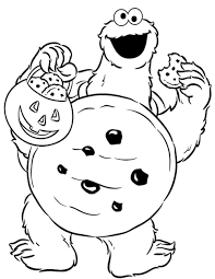 halloween costumes coloring pages cookie monster coloring pages halloween costume coloringstar