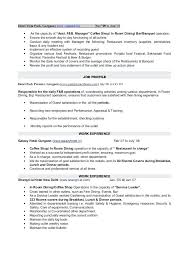 Sample Banquet Manager Resume Banquet Captain Resume Sample Crafty