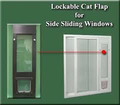 ideal lockable cat flap side sliding window inserts custom made pet door window units