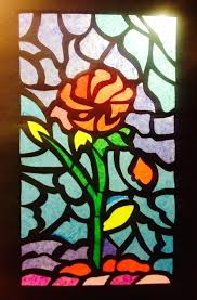 paper stained glass window tissue crafts intended making windows out of