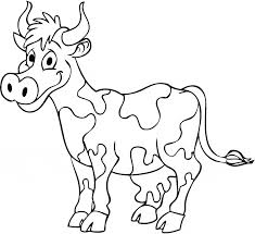 Small Picture Cow coloring page Animals Town Animal color sheets Cow picture