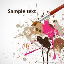 pincel con pintura. coloridos manchas de pintura con pincel vector gratis