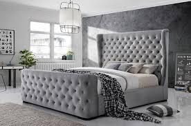 Winston Bed Crystal Tufted Black Linen in 2019 | Bedroom Furniture ...