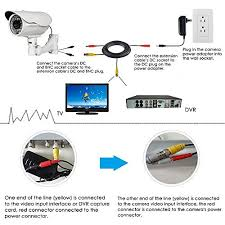 ablegrid acirc reg pack ft bnc video power cable security camera wire ablegridacircreg 4 pack 100ft bnc video power cable security camera wire cord for cctv dvr surveillance system included 2x bnc to rca connectors each cable