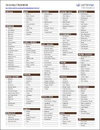 grocery checklist free printable grocery list and shopping list template