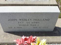 """John Wesley """"Wes"""" Holland Jr. (1896-1992) - Find A Grave Memorial"""