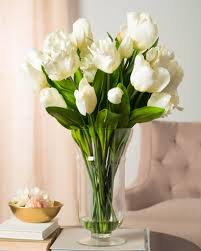 White Dutch Tulip Arrangement. White