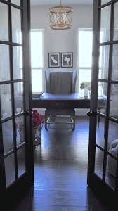 french doors for home office. elegant home office with black desk and french doors for s