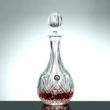liquor decanter set lead free whiskey decanter crystal wine decanter lead free glass round shape whiskey