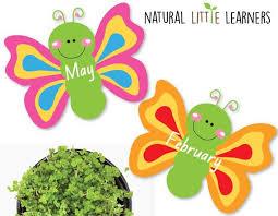 Butterfly Birthday Chart Room Decor Preschool Decor Children Classroom Decor Teacher Resources Butterflies