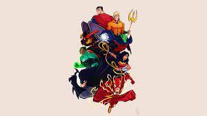 Justice League Cartoon Comic Artwork 4k ...
