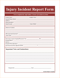 Free Incident Report Form Insurance Incident Report Template Unique Free Incident Report Form 14