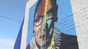 Artists plan to repair a mural of late justice ruth bader ginsburt. Westport Mural Of Ruth Bader Ginsburg Vandalized Over Holiday Weekend