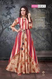 Designer Kurtis Surat Gujarat Femigrace Vol 2 By Madhuram Long Fancy Pattern Stylish Kurti