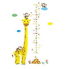Children S Height Measurement Chart Amazon Com Winhappyhome Giraffe Animals Kids Height Growth