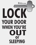 lock your door. Delighful Your Lock Your Door Poster And Your Door O