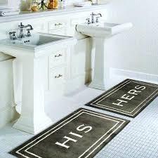 his and hers bathroom rugs home bath rugs his cotton rug brown memory foam orange bathroom rugs
