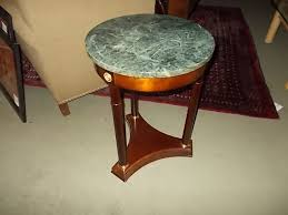 ay company marble top accent table 18 round x 25 high