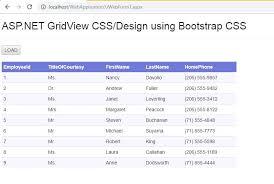 asp net gridview css designing using