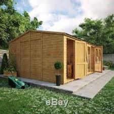 garden office with storage. 24x14 Wooden Summerhouse Log Cabin Garden Office Storage Shed 11mm T\u0026G  Shiplap Garden Office With Storage