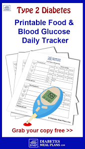 Diabetic Meal Plan Free Food And Blood Glucose Tracker Printable
