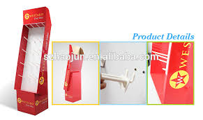 Free Standing Display Board Paper Peg Board Counter Top Display For LipsticksFree Standing 53