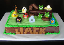 Angry Bird Cake Decorations