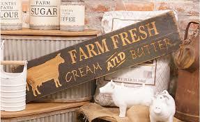 farmhouse wall decor farm fresh sign farmhouse style