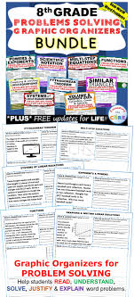 8th grade math common core word problems with graphic organizer bundle includes 9 sets 90