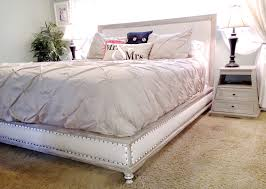 diy upholstered bed. Wood And Upholstered Bed - King Diy