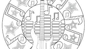 Free Music Coloring Pages Audiczinfo