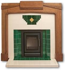 wyndham art deco tiled fireplace insert