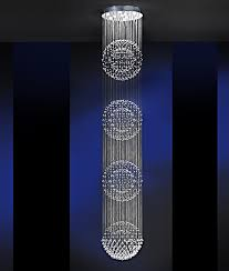 crystal long drop pendant 4m drop great showstoper for atriums stairwells