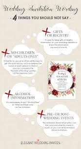 Wedding Inviting Words Wedding Invitation Wording 4 Things You Should Not Say