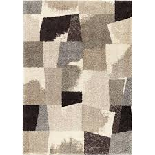 5 x 8 medium slate gray and taupe area rug wild weave