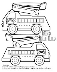 Small Picture Fire Engine Box Coloring Page crayolacom