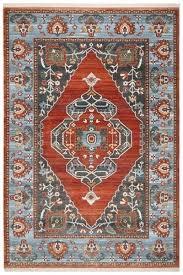 blue and orange rug rust blue safavieh crystal blue orange area rug