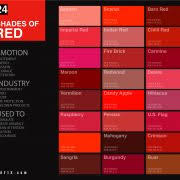 Different Shades Of Red Chart 24 Shades Of Pink Color Palette Graf1x Com