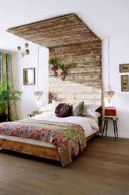 earthy bedroom decorating ideas hbz pinterest rustic chic via