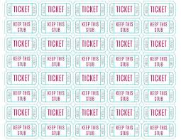 Template For Raffle Tickets To Print Free Free Ticket Template Word Printable Raffle Templates For Download