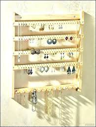 hanging earring organizer hanging earring holder wall mounted modern rustic wood jewelry organizer rack jewellery organiser