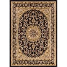 well woven timeless black area rug 10 11 x 15